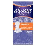 Always Dailies Singles Panty Liners Normal