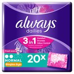 Always Dailies Singles Panty Liners Fresh