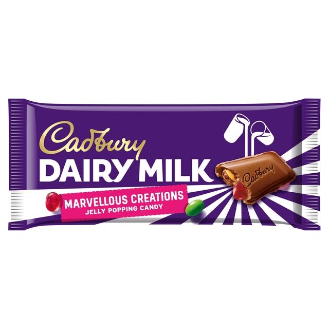 Cadbury Dairy Milk Marvellous Smashables Jelly Popping Candy Chocolate Bar