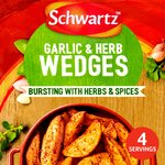 Schwartz Potato Wedges Garlic & Herb