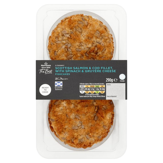 Morrisons The Best Chunky Salmon and Spinach Fishcakes