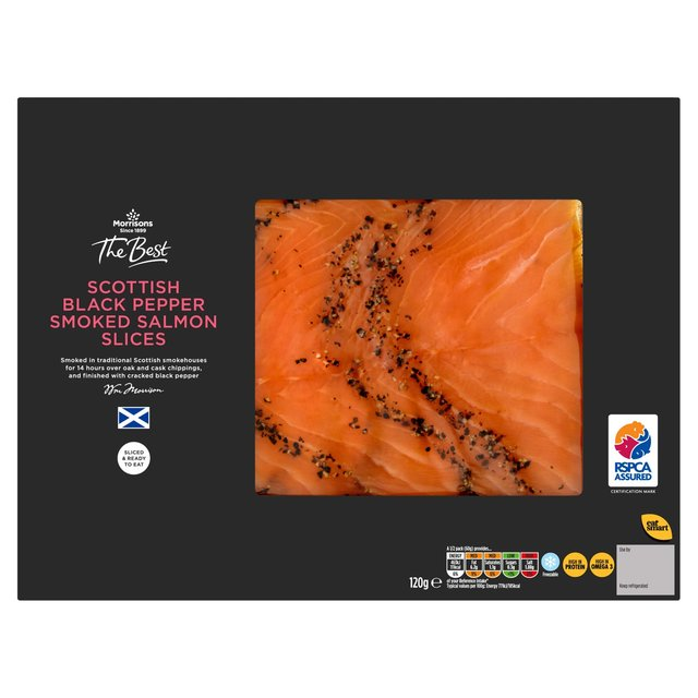 Morrisons The Best Scottish Black Pepper Smoked Salmon Slices