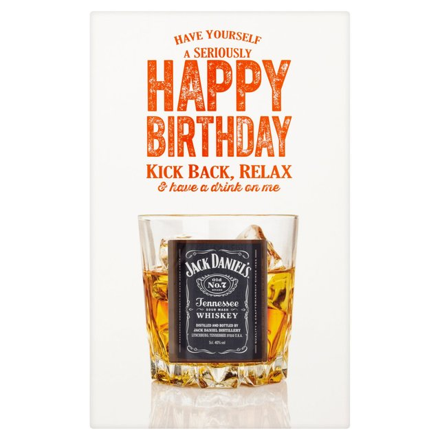 50th Birthday Liquor: Morrisons: Jack Daniel's Birthday Gift Set 5cl (Product