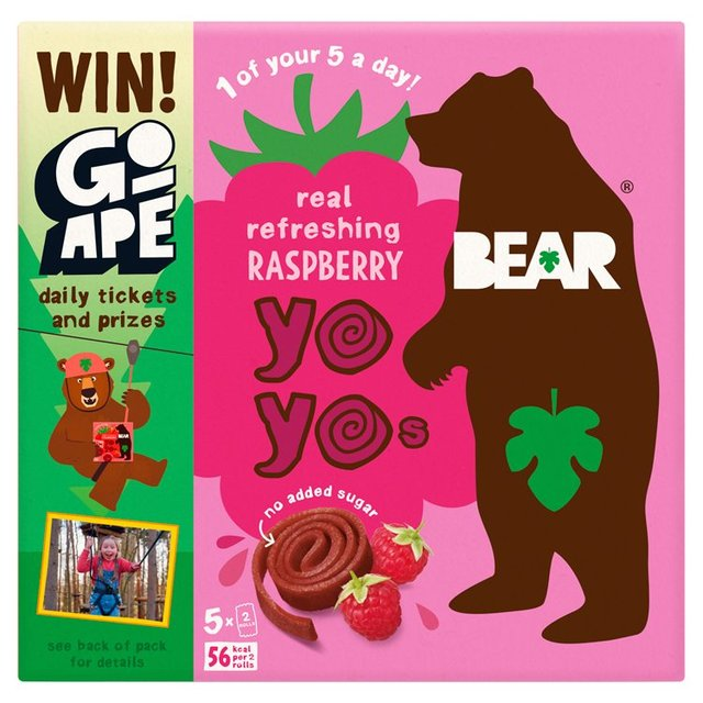 BEAR Yoyos Raspberry Multipack