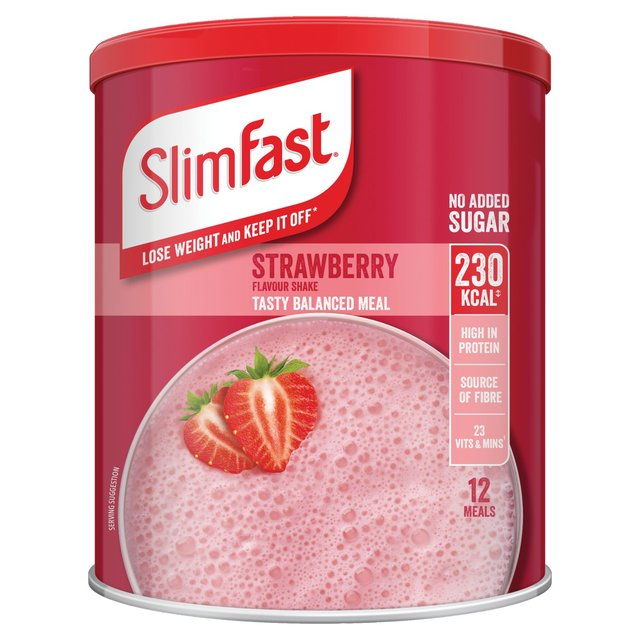 Slim-Fast Powder Tin Strawberry 438G