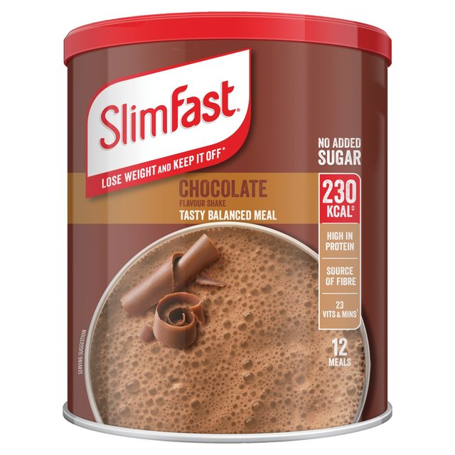 Morrisons: Slim-Fast Powder Tin Milk Chocolate 450G 450g ...