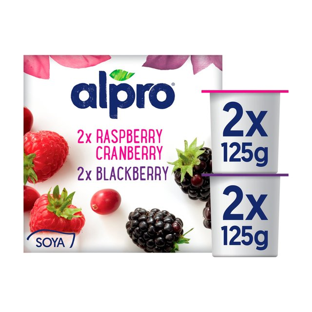 Alpro Blackberry, Raspberry & Cranberry Soya Yogurt Alternative