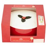 Morrisons Fruited Top Iced Holly Leaf Christmas Cake