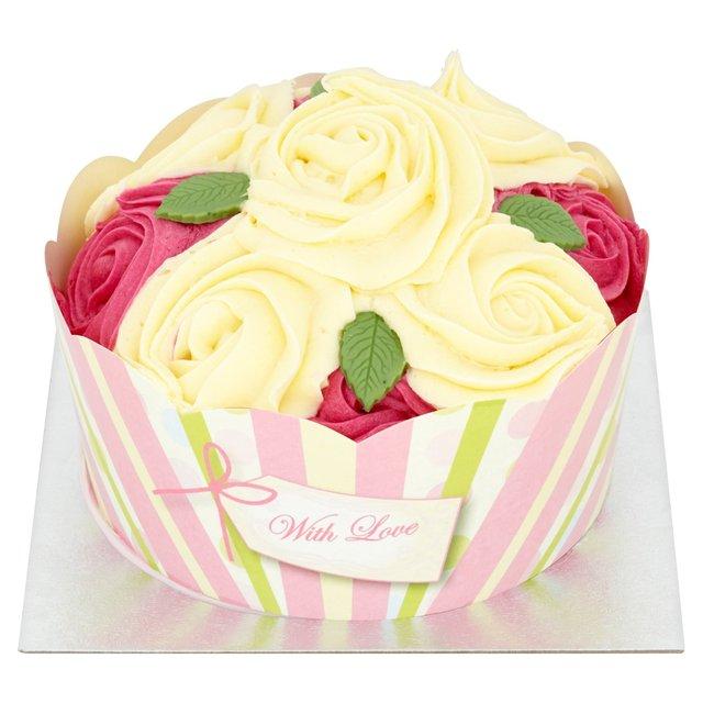 Morrisons Morrisons Rose Cupcake Celebration Cake