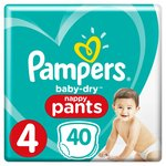 Pampers Baby-Dry Pants Size 4 Essential Pack Nappies