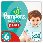 Pampers Baby-Dry Pants Size 6 Essential Pack Nappies