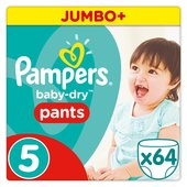 Pampers Baby-Dry Pants Size 5 Jumbo Box Nappies