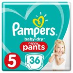Pampers Baby-Dry Pants Size 5 Essential Pack Nappy Pants