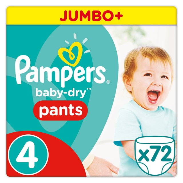 Pampers Baby-Dry Pants Size 4 Jumbo Box Nappies