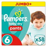 Pampers Baby-Dry Pants Size 6 Jumbo Box Nappies