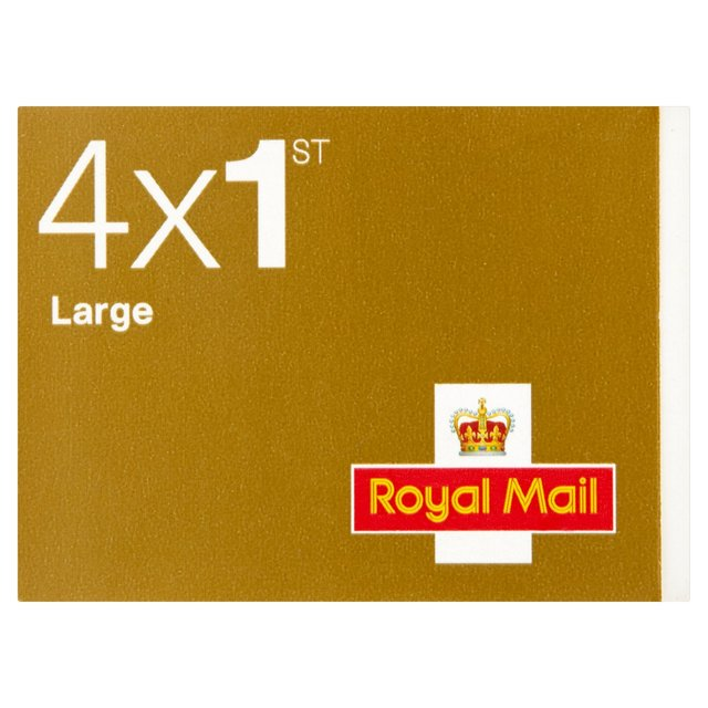 Morrisons: First Class Large Letter Stamps Book of 4 4 per pack