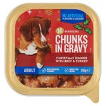Morrisons Chunks in Gravy Christmas Dinner Beef & Turkey