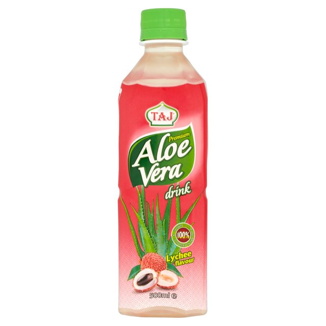 morrisons taj premium aloe vera lychee juice drink 500ml product information. Black Bedroom Furniture Sets. Home Design Ideas