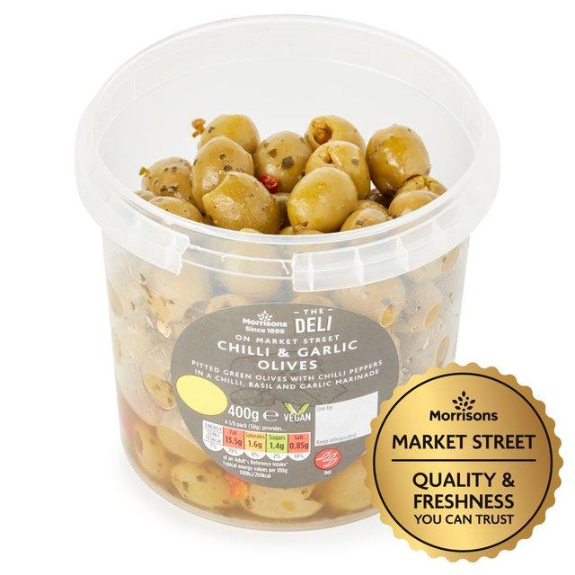 Market Street Chilli & Garlic Olives Pot