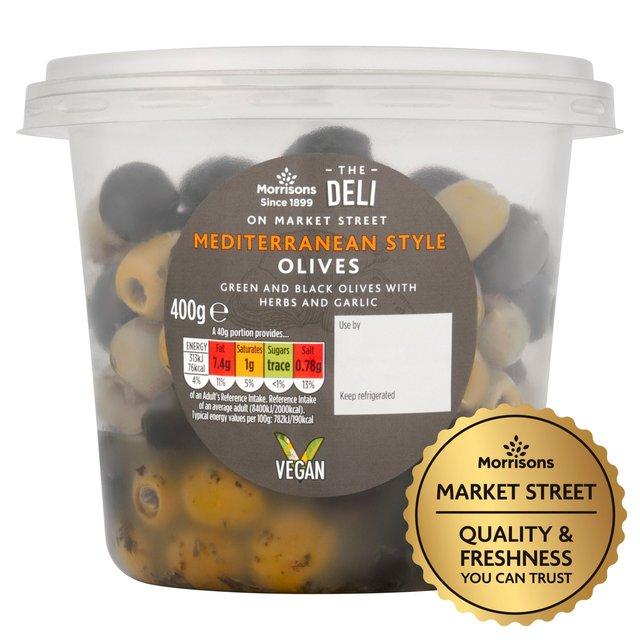 Market Street Mediterranean Black & Green Olives With Herbs