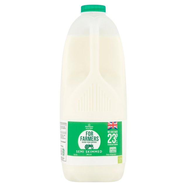 Morrisons For Farmers British Semi Skimmed Milk 4 Pints