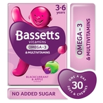 Bassetts 3-6 Multi Vitamins & Omega 3 Blackcurrant & Apple