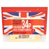Morrisons For Farmers Mature Cheddar