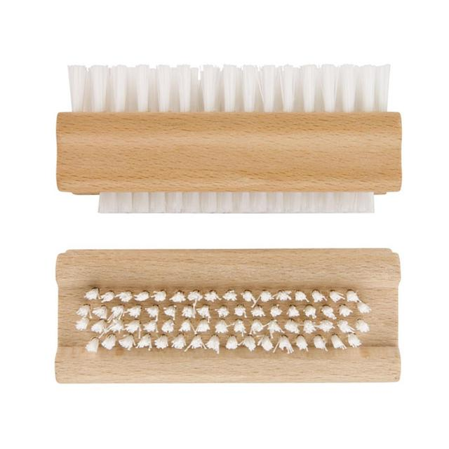 Wooden Double Sided Nail Brush