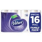 Quilted Velvet Toilet Tissue White