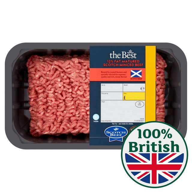 Morrisons The Best Matured Scotch Beef Mince 12% Fat