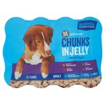 Morrisons Complete Dog Chunks In Jelly Chicken Beef Lamb & Turkey