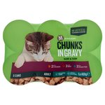 Morrisons Complete Chunks In Gravy Chicken Beef & Ocean Fish Cat Food