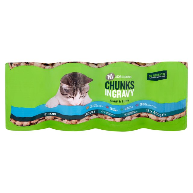 Morrisons Complete Chunks In Gravy Chicken Beef Lamb & Ocean Fish Cat Food