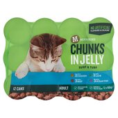 Morrisons Complete Chunks In Jelly Chicken Beef Lamb & Ocean Fish Cat Food