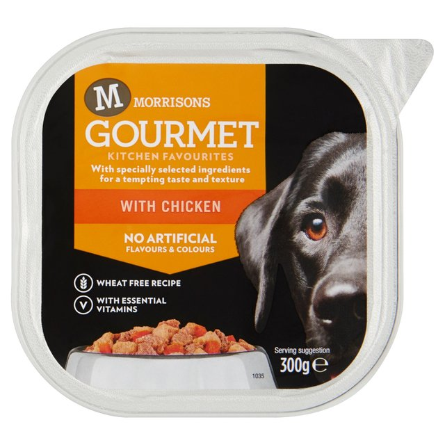 Morrisons Christmas Gourmet Kitchen Favourites Dog Food Chicken Dinner