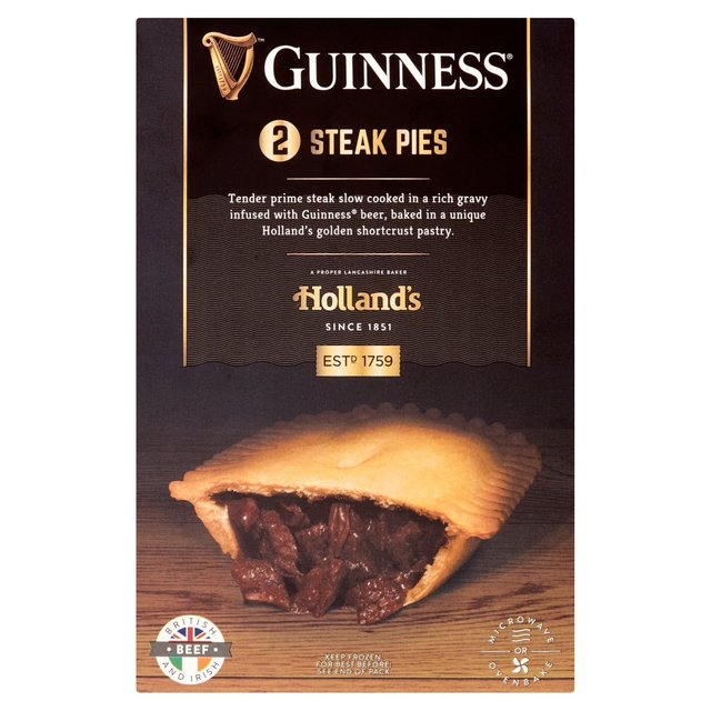 Morrisons: Holland's Steak & Guinness Frozen Pies 2 Pack ...