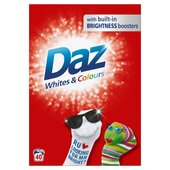 Daz Washing Powder Whites & Colours 40 Washes