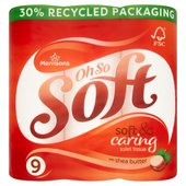 Morrisons Shea Butter Toilet Tissue 9 Roll