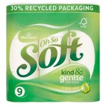 Morrisons Even Softer Aloe Vera Toilet Tissue 9 Roll