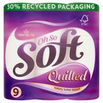 Morrisons Even Softer Quilted Comfort Toilet Tissue 9 Roll
