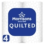Morrisons Even Softer Quilted Comfort Toilet Tissue 4 Roll