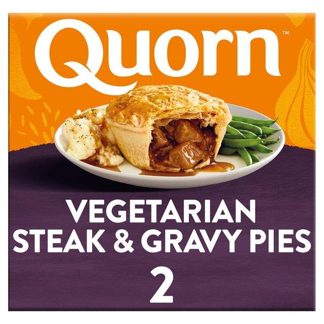 Quorn Vegetarian Steak & Gravy Pies 2 Pack   Morrisons