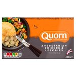Quorn Vegetarian Chicken & Leek Pies 2 Pack