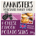 Bannisters Farm 4 Potato Skins Bacon & Cheese