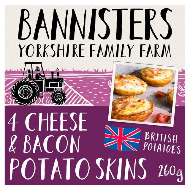Bannisters Farm 4 Cheese & Bacon Potato Skins