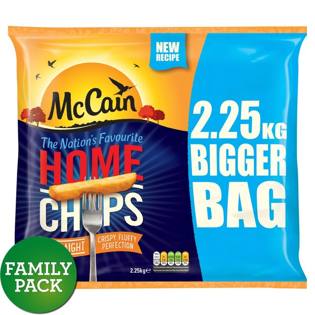 Morrisons: McCain Home Chips Straight Cut (Product Information)