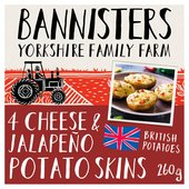 Bannisters Farm 4 Cheese & Jalapeno Potato Skins