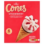 Morrisons Strawberry Ice Cream Cones