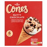 Morrisons Chocolate & Nut Ice Cream Cones