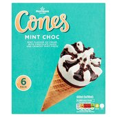 Morrisons Mint Ice Cream Cones